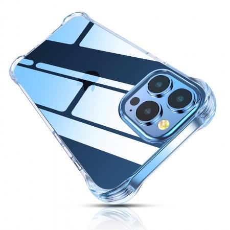 Cocoda Coque Compatible avec iPhone 13 Pro, Transparent Coins Absorbant les Chocs en Parfaite Aligné, Anti-Rayures & Résiste Jaunit & Protection pour Housse Etui en TPU Souple, Claire